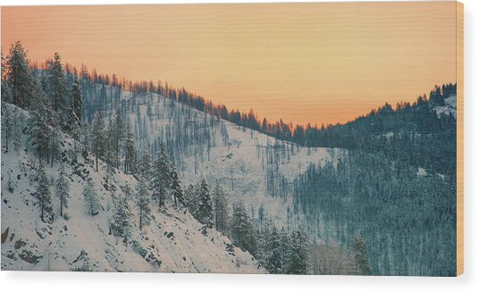 Winter Mountainscape  Wood Print