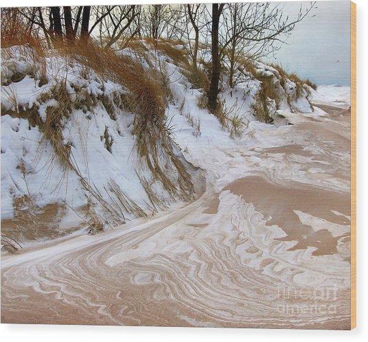 Winter Paints Wood Print