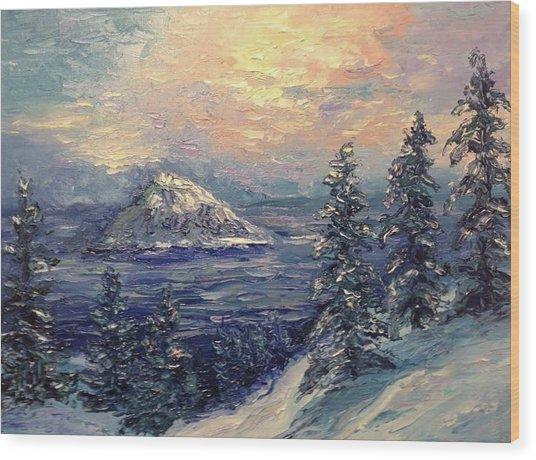 Winter Peace Wood Print