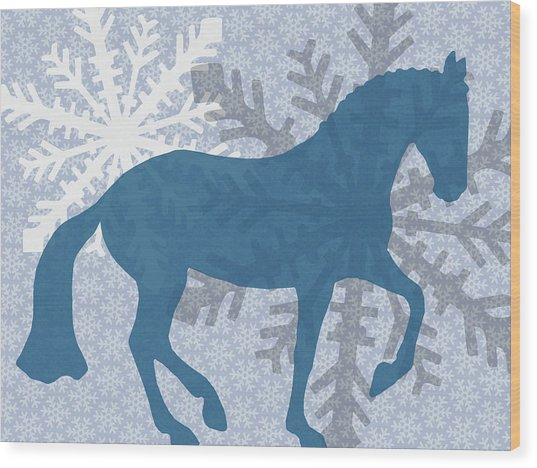 Winter Piaffe   Wood Print by JAMART Photography