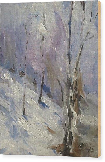 Winter Rage Wood Print
