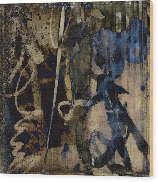Winter Rains Series Three Of Six Wood Print