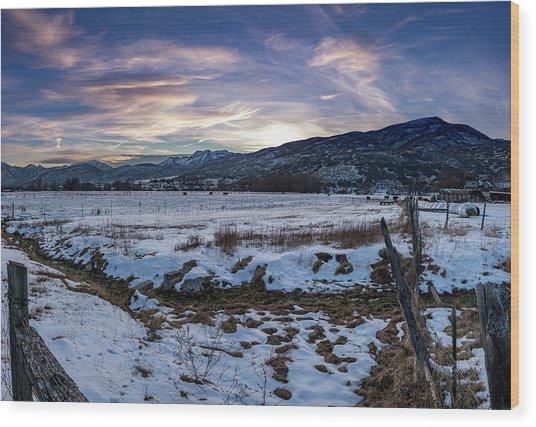 Sunset Range Wood Print
