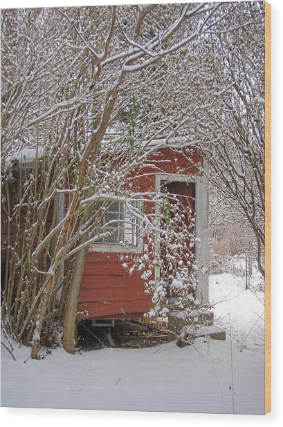 Winter Reading Room Wood Print by Kristine Nora