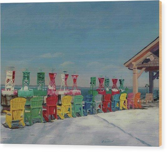 Winter Sentries Wood Print