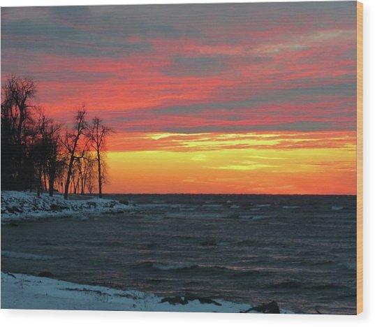 Winter Solstice Eve Wood Print