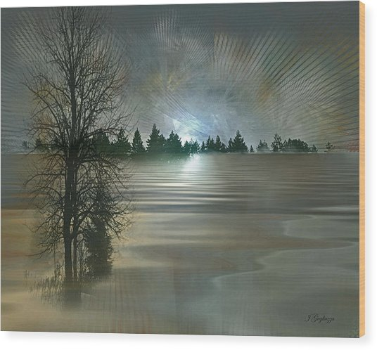 Winter Solstice Wood Print by Jean Gugliuzza