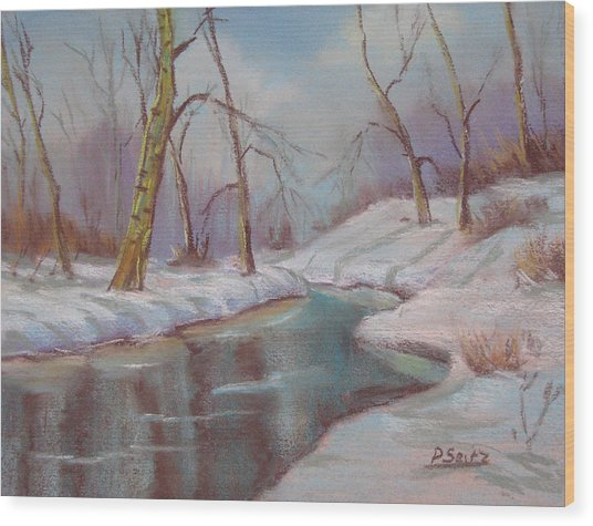 Winter Solstice Wood Print by Patricia Seitz