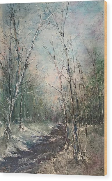 Winter Sojourn Wood Print