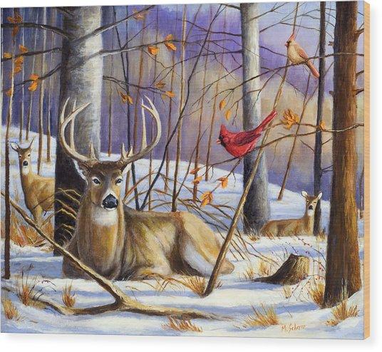 Winter Song Wood Print by Michael Scherer