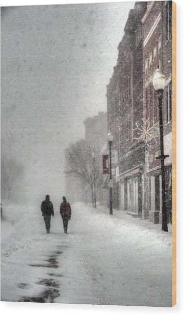Winter Storm Wood Print