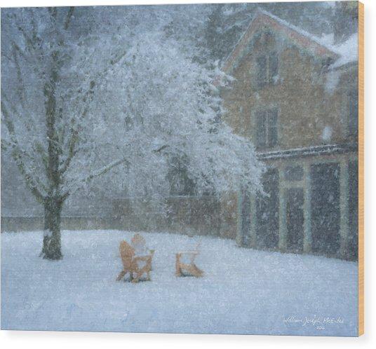 Winter Tea At Queset House Wood Print