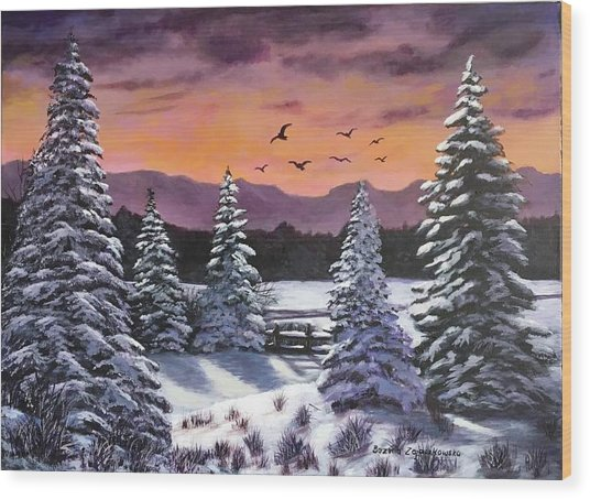Winter Time Again Wood Print