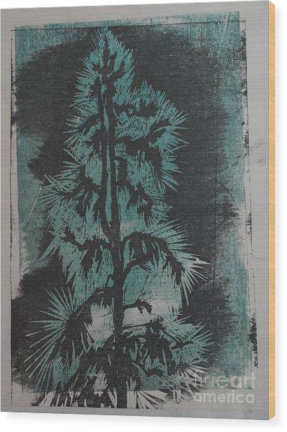 Winter Tree Wood Print by Crafty Daniel
