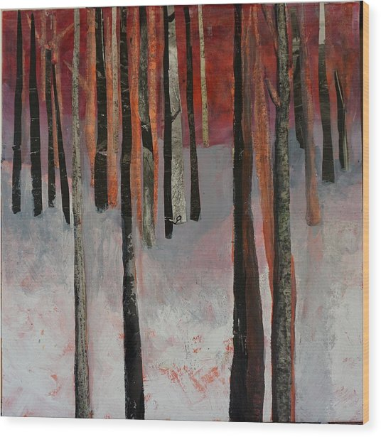Winter Trees 1 Wood Print