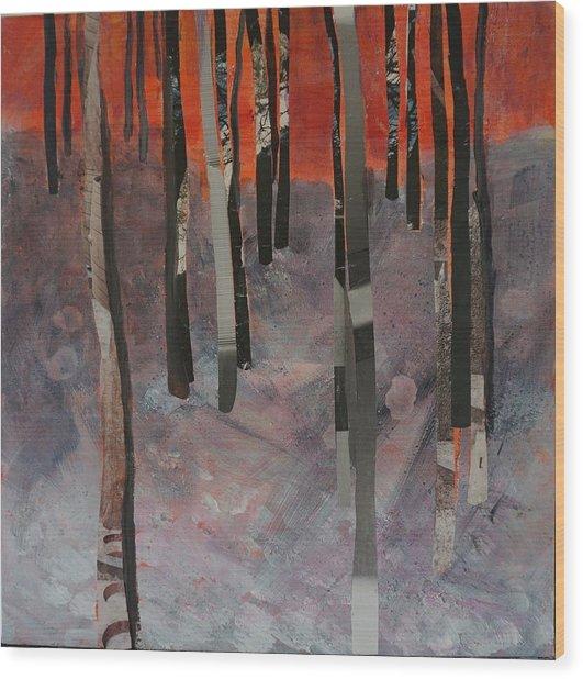 Winter Trees 2 Wood Print
