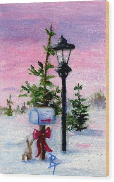 Winter Wonderland Aceo Wood Print by Brenda Thour