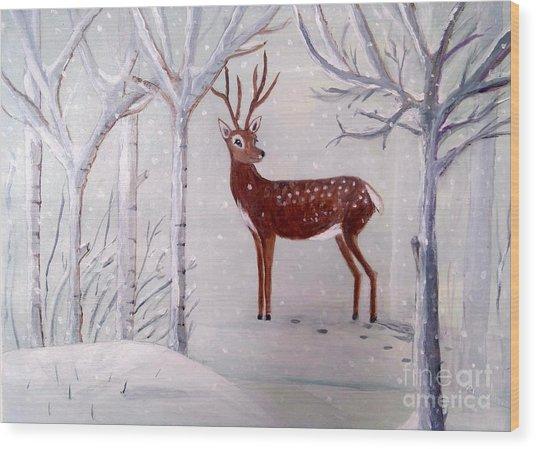 Winter Wonderland - Painting Wood Print