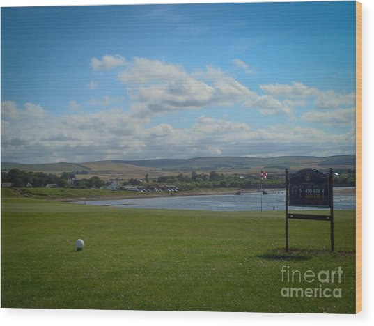 Winterfield Golf Club Wood Print