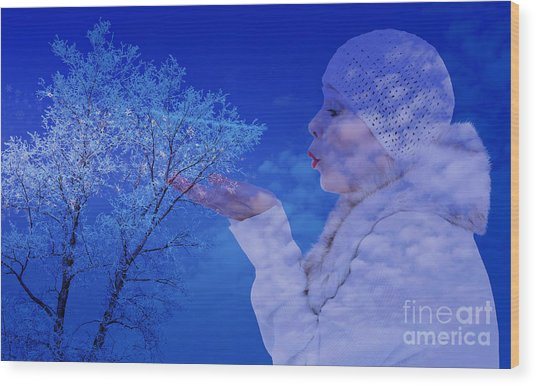 Winter's Breath  Wood Print