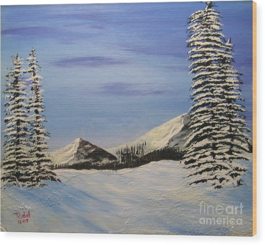 Winters Chill Wood Print by Todd Androy