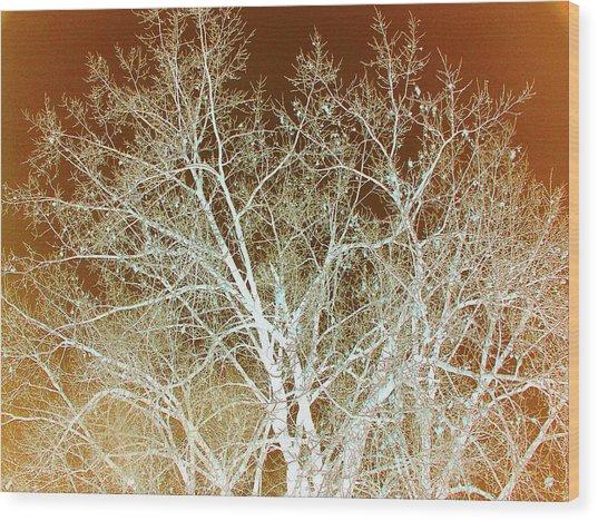 Winter's Dance Wood Print