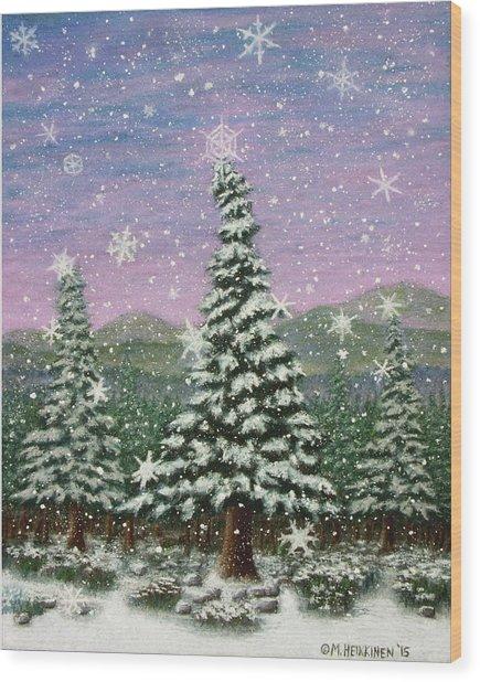Winter's Eve 01 Wood Print