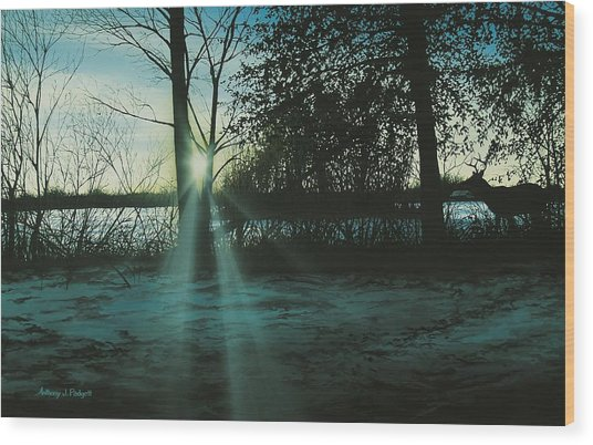 Winter's Evening Scout Wood Print