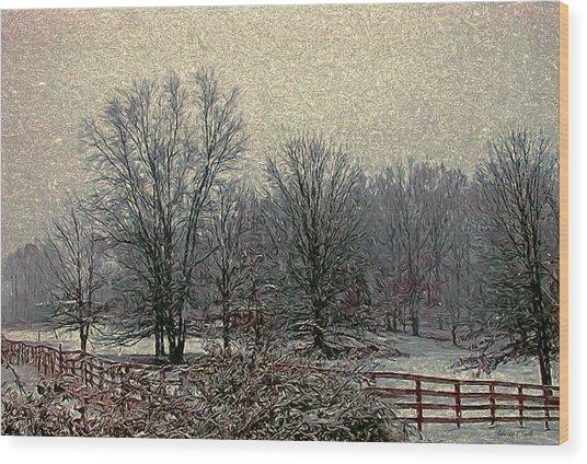 Winter's First Snowfall Wood Print