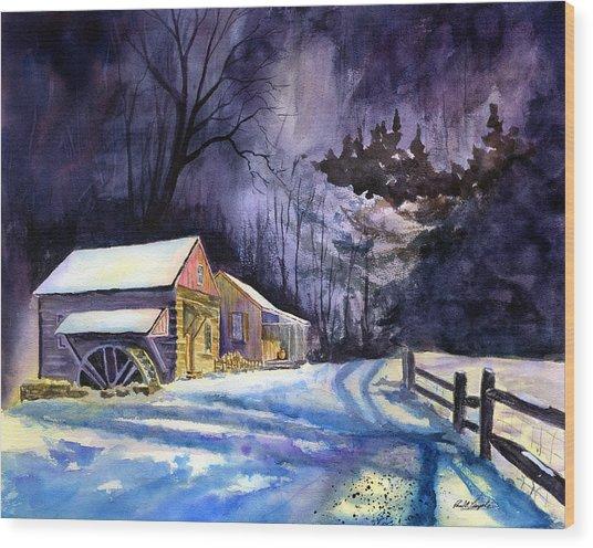 Winter's Grip Wood Print by Paul Temple