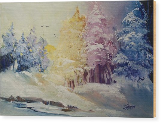 Winter's Pride Wood Print