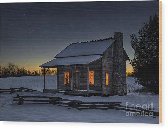 Winters Refuge Wood Print