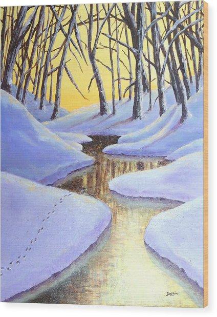 Winter's Warmth Wood Print