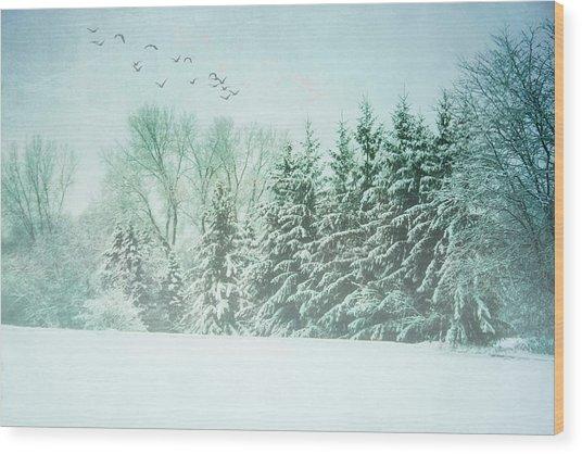 Winter's Watch Wood Print