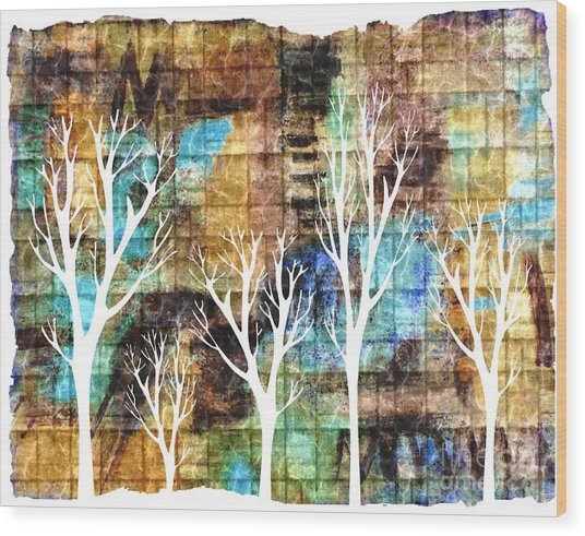 Winterscape 2 Wood Print by Mimo Krouzian