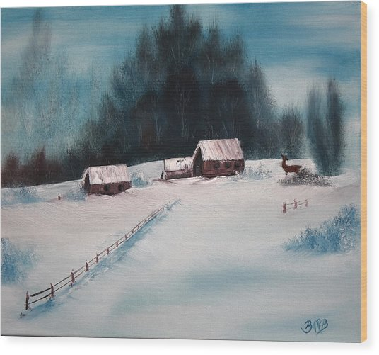 Winterscene Wood Print
