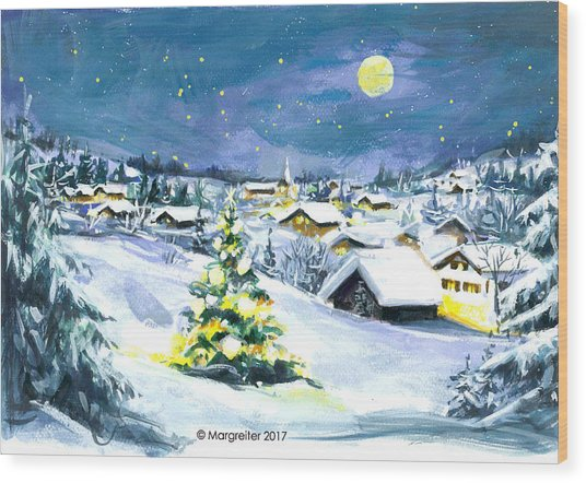 Winterwonderland Wood Print
