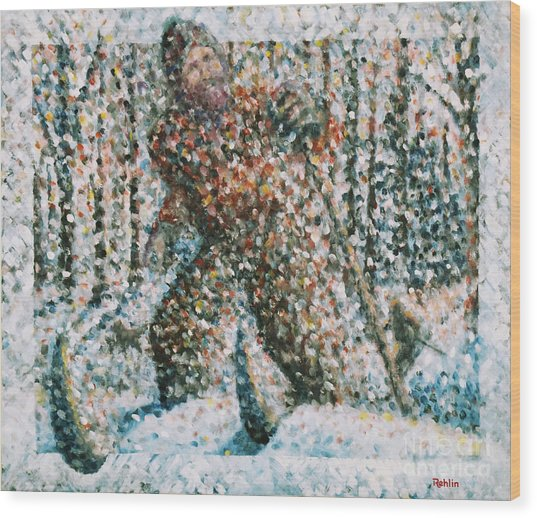 Winterwoods Wood Print by Jim Rehlin