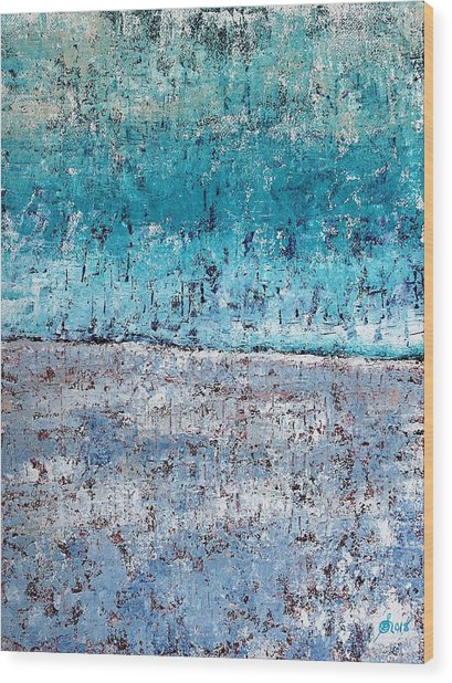 Wintry Mesa Wood Print