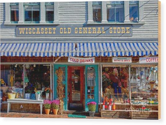 Wiscasset General Wood Print