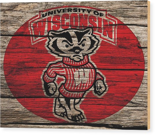 Wisconsin Badgers Barn Door Wood Print
