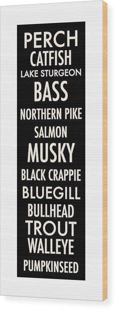 Wisconsin Fish Wood Print