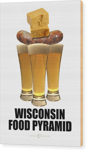 Wisconsin Food Pyramid Wood Print