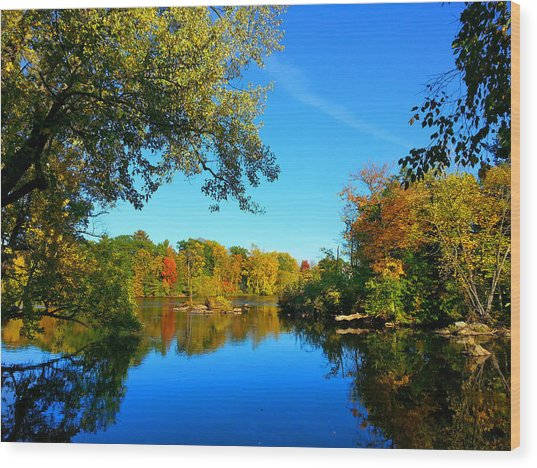 Wisconsin River Colors 2 Wood Print