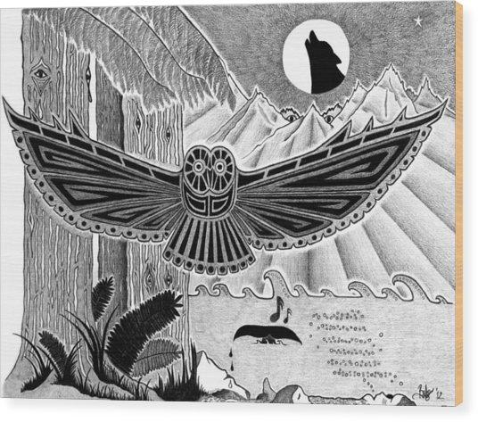 Wisdom Of The Ancestors  Wood Print