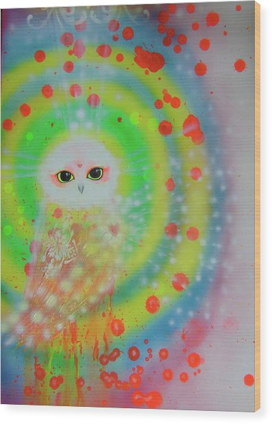 Wisdom Of  The Owl  Wood Print