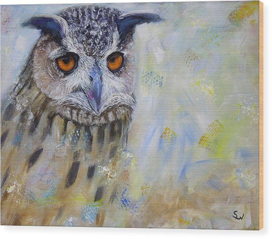 Wise Owl Wood Print