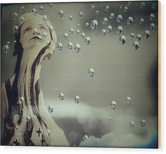 Wood Print featuring the digital art Wishful Thinking by Delight Worthyn