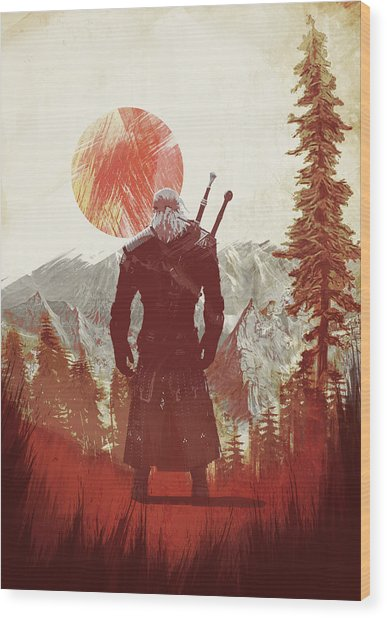 Witcher 3 Wood Print