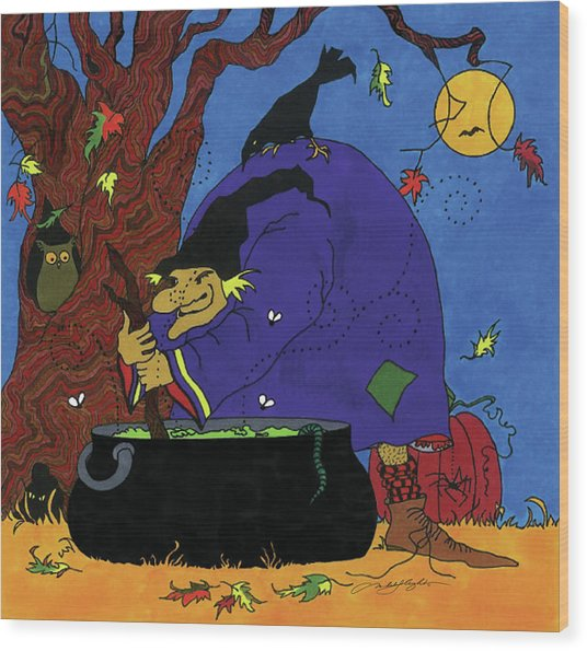 Witch's Brew Wood Print